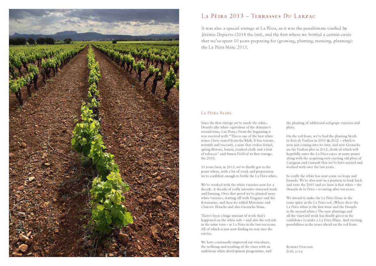 "La Peira 2013 Vintage: ""In contrast to elsewhere in France, 2013 was a superb vintage in Languedoc-Roussillon"" La Peira"